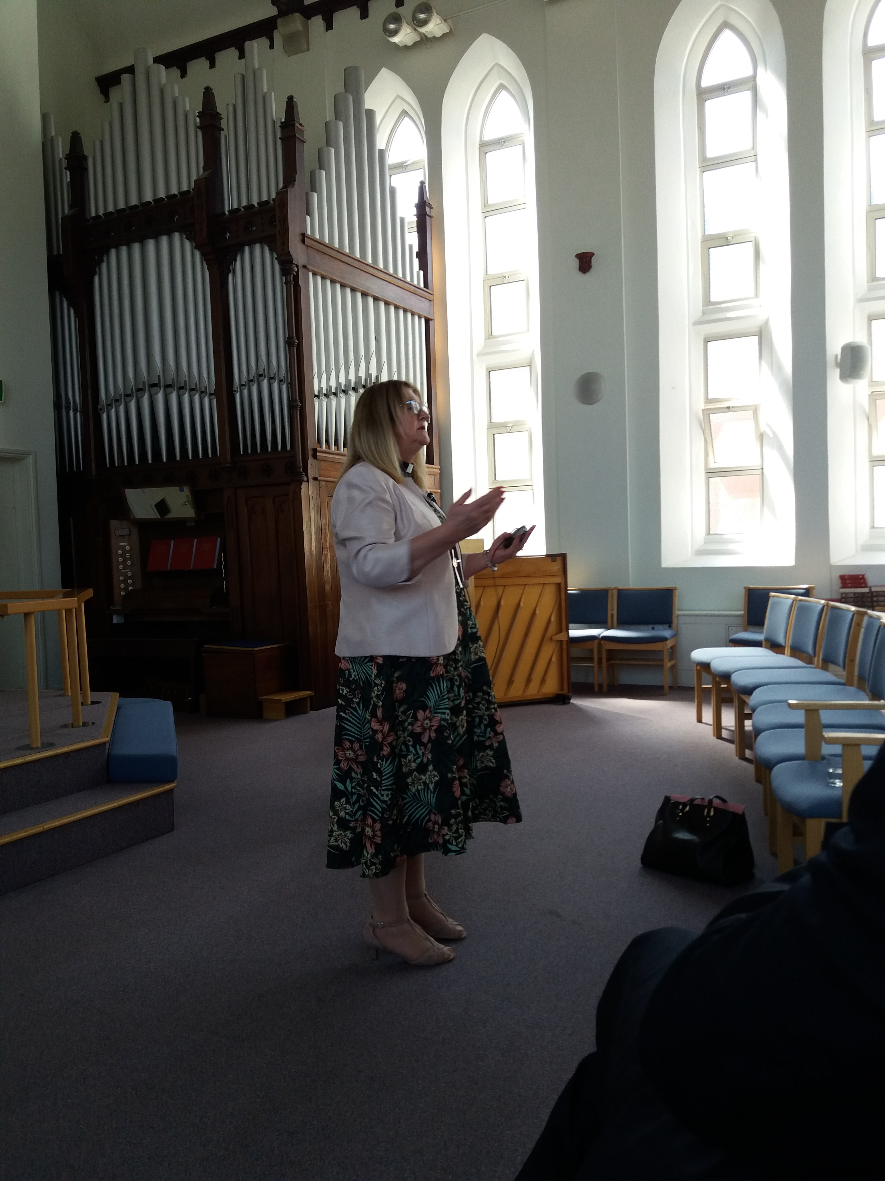 Rev Loraine Mellor at Trinity